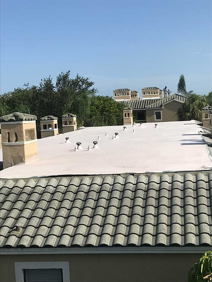 Roof coating project bella vista boca del mar boca raton fl